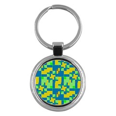 Shapes In Shapes Key Chain (round) by LalyLauraFLM