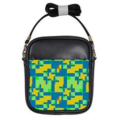 Shapes In Shapes Girls Sling Bag by LalyLauraFLM
