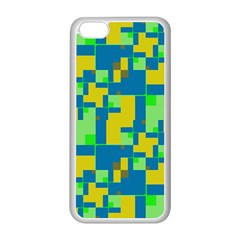 Shapes In Shapes Apple Iphone 5c Seamless Case (white) by LalyLauraFLM