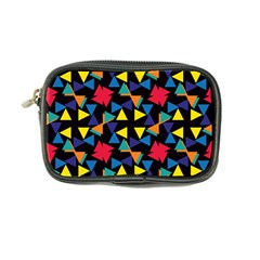 Colorful Triangles And Flowers Pattern Coin Purse by LalyLauraFLM
