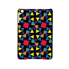 Colorful Triangles And Flowers Pattern Apple Ipad Mini 2 Hardshell Case by LalyLauraFLM