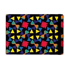Colorful Triangles And Flowers Pattern	apple Ipad Mini 2 Flip Case by LalyLauraFLM