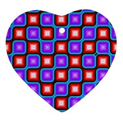 Connected Squares Pattern Ornament (heart) by LalyLauraFLM