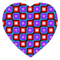 Connected Squares Pattern Jigsaw Puzzle (heart) by LalyLauraFLM
