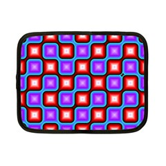 Connected Squares Pattern Netbook Case (small) by LalyLauraFLM