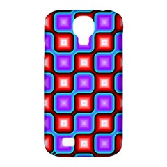 Connected Squares Pattern Samsung Galaxy S4 Classic Hardshell Case (pc+silicone) by LalyLauraFLM