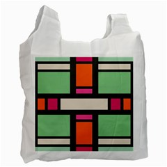 Rectangles Cross Recycle Bag (two Side) by LalyLauraFLM