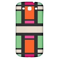 Rectangles Cross Samsung Galaxy S3 S Iii Classic Hardshell Back Case by LalyLauraFLM