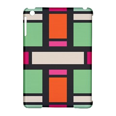 Rectangles Cross Apple Ipad Mini Hardshell Case (compatible With Smart Cover) by LalyLauraFLM