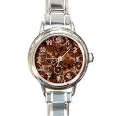 Steampunk In Rusty Metal Round Italian Charm Watches by FantasyWorld7