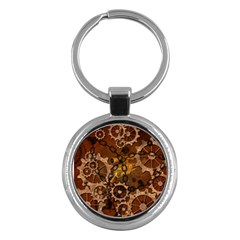 Steampunk In Rusty Metal Key Chains (round)  by FantasyWorld7