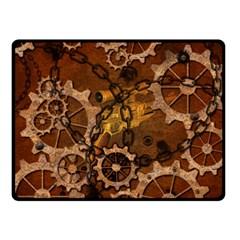 Steampunk In Rusty Metal Double Sided Fleece Blanket (small)  by FantasyWorld7