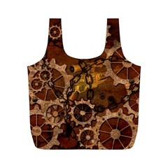 Steampunk In Rusty Metal Full Print Recycle Bags (m)  by FantasyWorld7