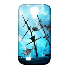 Underwater World With Shipwreck And Dolphin Samsung Galaxy S4 Classic Hardshell Case (pc+silicone) by FantasyWorld7