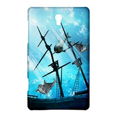 Underwater World With Shipwreck And Dolphin Samsung Galaxy Tab S (8 4 ) Hardshell Case
