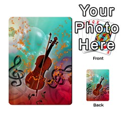 Violin With Violin Bow And Key Notes Multi Purpose Cards (rectangle)  by FantasyWorld7