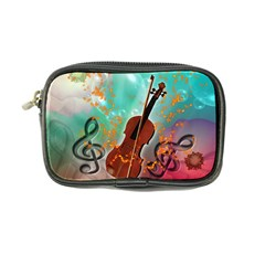 Violin With Violin Bow And Key Notes Coin Purse by FantasyWorld7