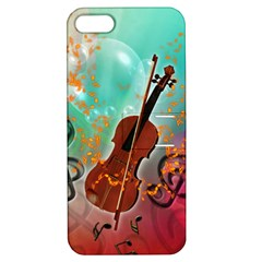 Violin With Violin Bow And Key Notes Apple iPhone 5 Hardshell Case with Stand by FantasyWorld7