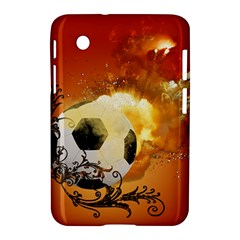 Soccer With Fire And Flame And Floral Elelements Samsung Galaxy Tab 2 (7 ) P3100 Hardshell Case  by FantasyWorld7