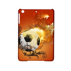 Soccer With Fire And Flame And Floral Elelements Ipad Mini 2 Hardshell Cases by FantasyWorld7