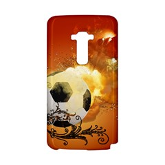 Soccer With Fire And Flame And Floral Elelements LG G Flex by FantasyWorld7