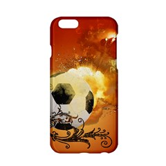 Soccer With Fire And Flame And Floral Elelements Apple Iphone 6/6s Hardshell Case by FantasyWorld7