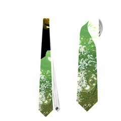 Beautiful Seaturtle With Bubbles Neckties (two Side)