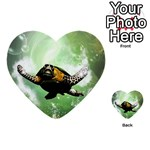 Beautiful Seaturtle With Bubbles Multi-purpose Cards (Heart)  Front 24