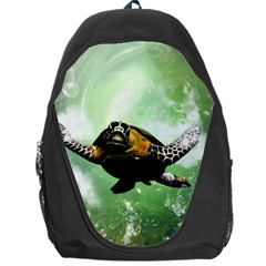 Beautiful Seaturtle With Bubbles Backpack Bag by FantasyWorld7