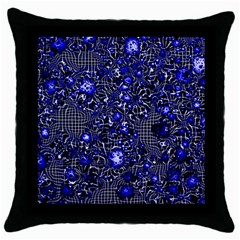 Sci Fi Fantasy Cosmos Blue Throw Pillow Cases (black) by ImpressiveMoments