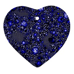 Sci Fi Fantasy Cosmos Blue Heart Ornament (2 Sides) by ImpressiveMoments
