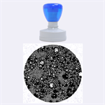 Sci Fi Fantasy Cosmos Blue Rubber Round Stamps (Large) 1.875 x1.875  Stamp