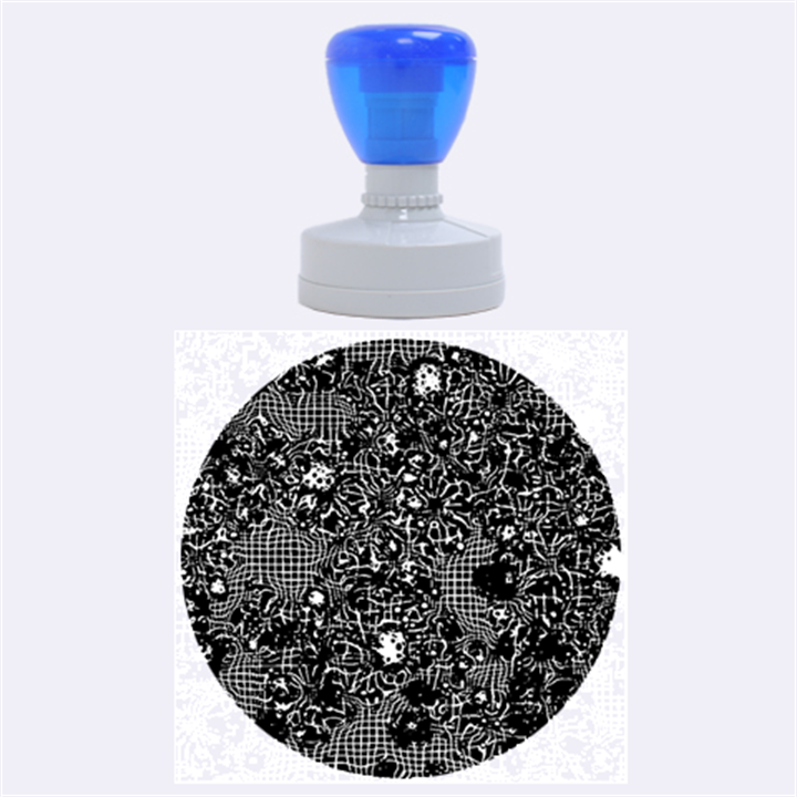 Sci Fi Fantasy Cosmos Blue Rubber Round Stamps (Large)