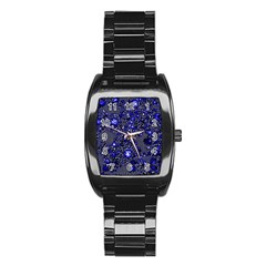 Sci Fi Fantasy Cosmos Blue Stainless Steel Barrel Watch by ImpressiveMoments