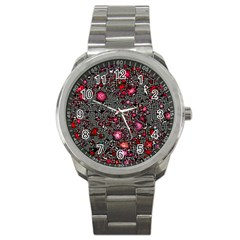 Sci Fi Fantasy Cosmos Red  Sport Metal Watches by ImpressiveMoments