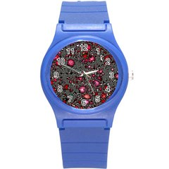 Sci Fi Fantasy Cosmos Red  Round Plastic Sport Watch (s) by ImpressiveMoments