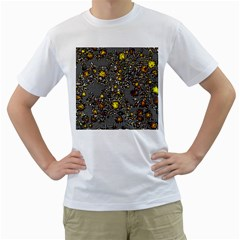 Sci Fi Fantasy Cosmos Yellow Men s T Shirt (white) (two Sided) by ImpressiveMoments