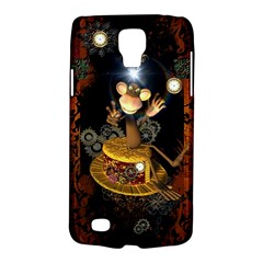 Steampunk, Funny Monkey With Clocks And Gears Galaxy S4 Active by FantasyWorld7