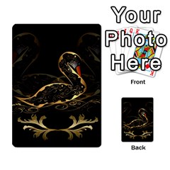 Wonderful Swan In Gold And Black With Floral Elements Multi Purpose Cards (rectangle)