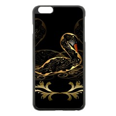 Wonderful Swan In Gold And Black With Floral Elements Apple Iphone 6 Plus/6s Plus Black Enamel Case by FantasyWorld7