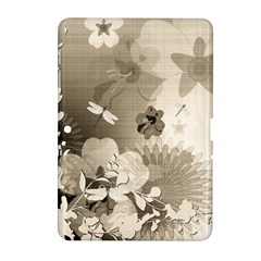Vintage, Wonderful Flowers With Dragonflies Samsung Galaxy Tab 2 (10 1 ) P5100 Hardshell Case  by FantasyWorld7