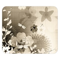 Vintage, Wonderful Flowers With Dragonflies Double Sided Flano Blanket (small)  by FantasyWorld7