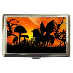 Beautiful Unicorn Silhouette In The Sunset Cigarette Money Cases by FantasyWorld7