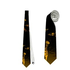 Beautiful Unicorn Silhouette In The Sunset Neckties (two Side)