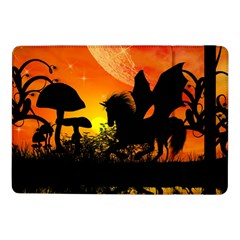 Beautiful Unicorn Silhouette In The Sunset Samsung Galaxy Tab Pro 10 1  Flip Case by FantasyWorld7