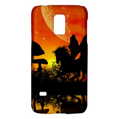 Beautiful Unicorn Silhouette In The Sunset Galaxy S5 Mini by FantasyWorld7