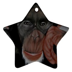 The Thinker Ornament (star)  by timelessartoncanvas