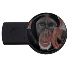 The Thinker Usb Flash Drive Round (4 Gb)  by timelessartoncanvas