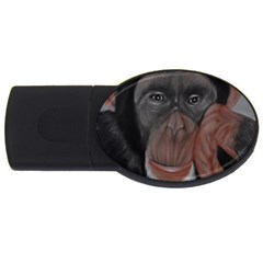 The Thinker Usb Flash Drive Oval (4 Gb)  by timelessartoncanvas