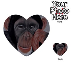 The Thinker Multi Purpose Cards (heart)  by timelessartoncanvas